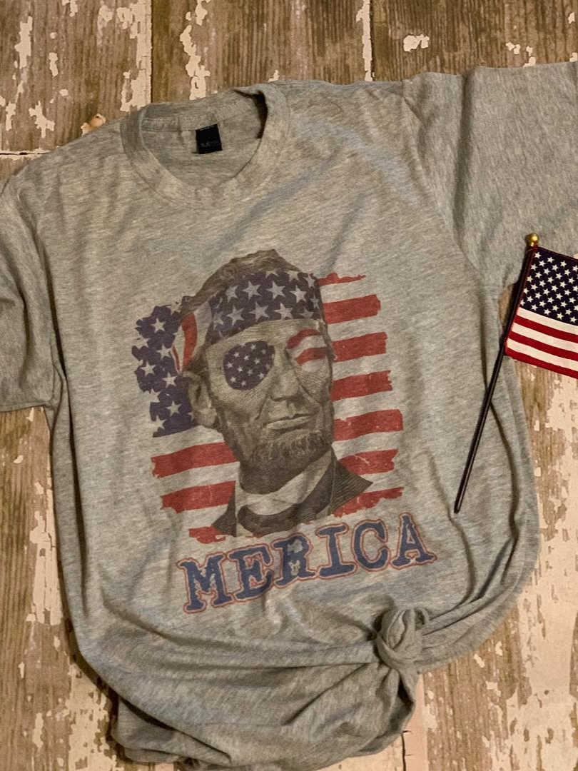 4th of July Lincoln America Tee