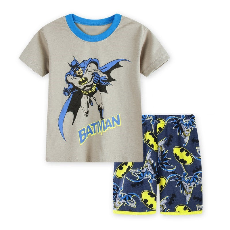 New Children's Batman short-sleeved Cotton Suit