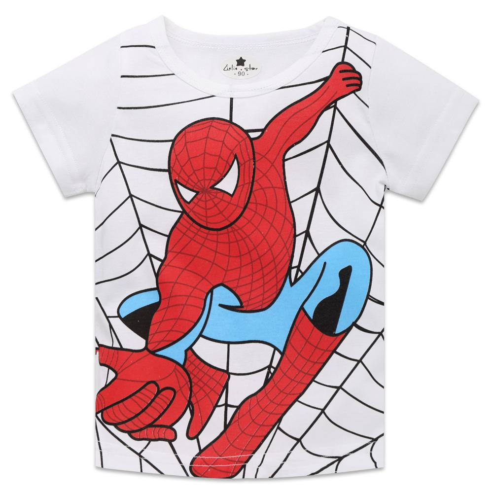 Spider-man Short Sleeve T-shirt For Kids