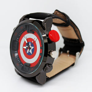 Captain America Casual Electronic Quartz Watch