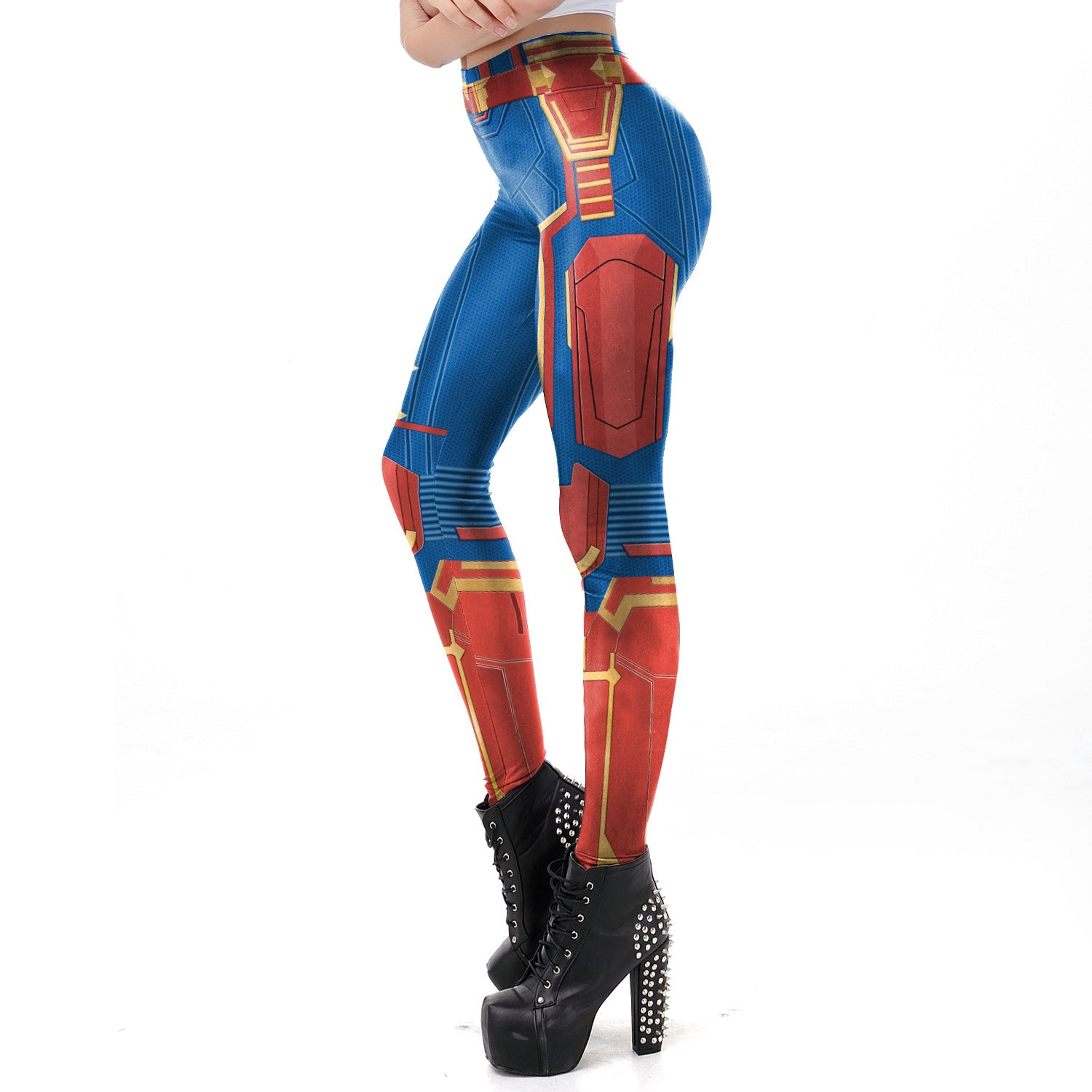 Marvel captain cosplay yoga leggings