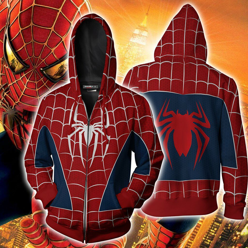Spider Man3 Zip Up Hoodie