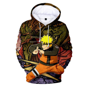 Naruto Print Pullover For Kids And Adults