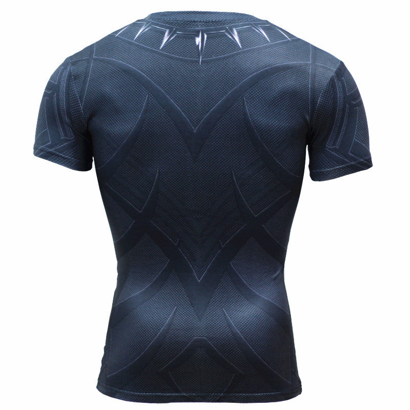 Marvel Black Panther 3D printed Sports short sleeve t-shirt
