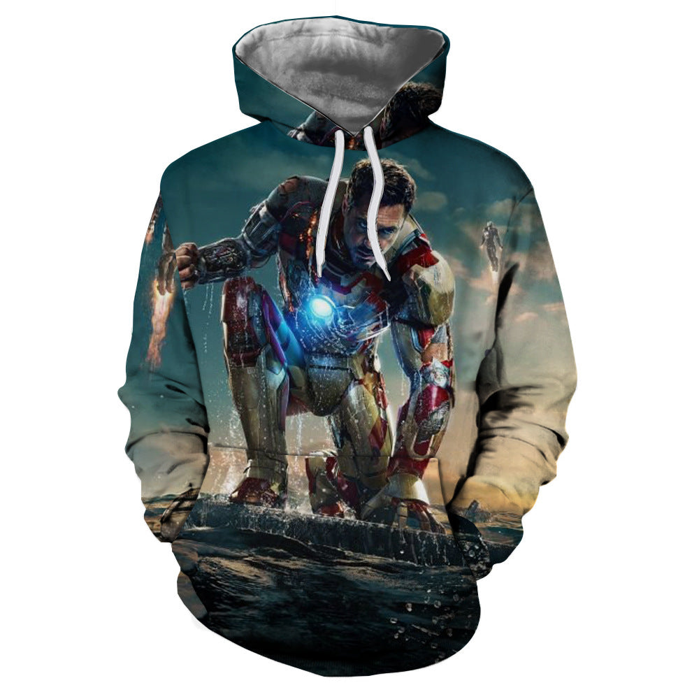 The Avengers3:Iron Man 3D Digital Printing Hoodie