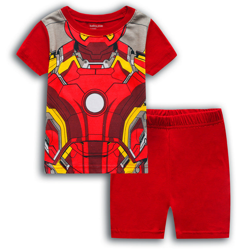 Iron Man Short Sleeve Cotton T-Shirt set for Kids