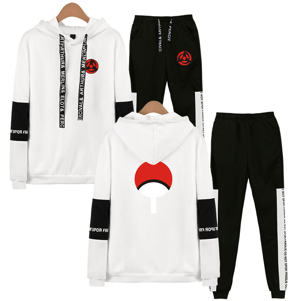Naruto casual hooded sweater + trousers suit