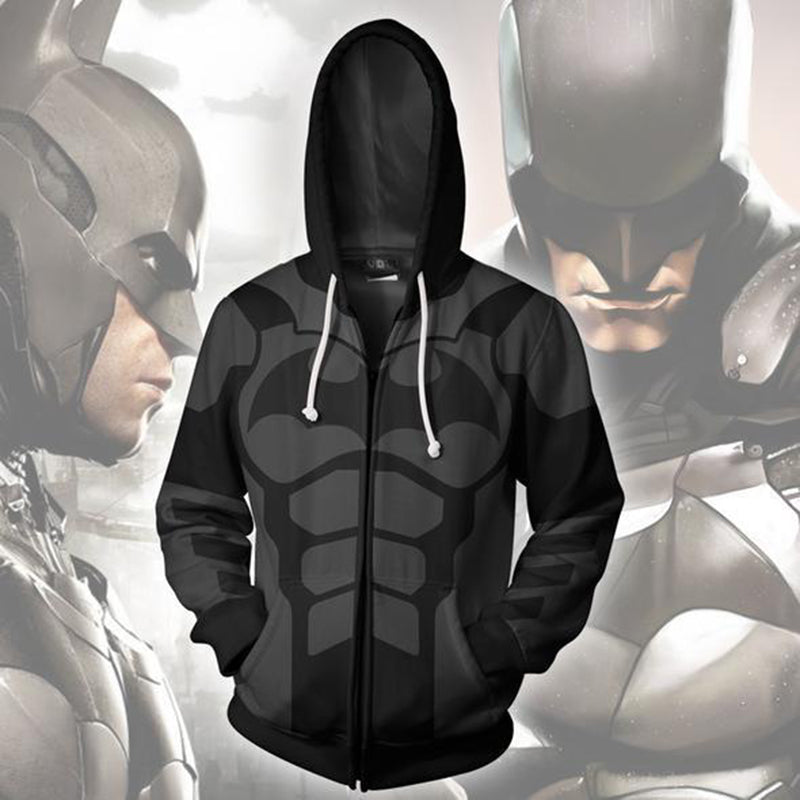 Trendy Batman 3D printed zipper hoodie