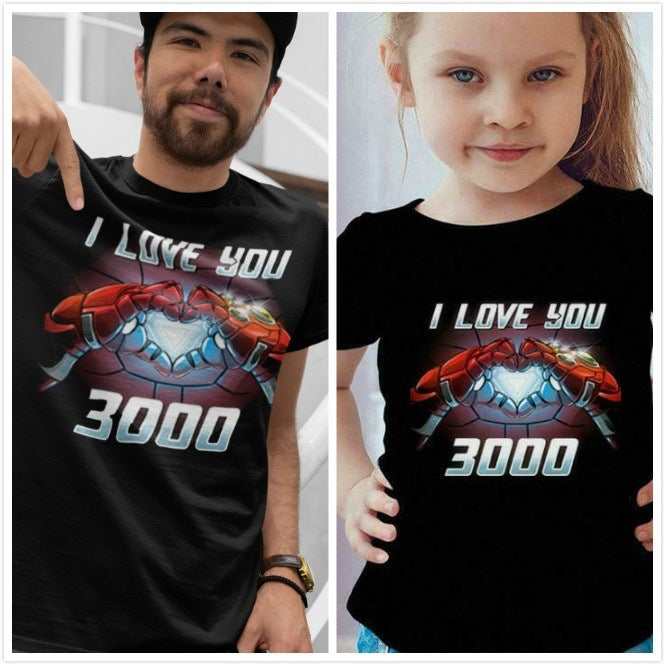 Avengers I Love You 3000 Unisex Family T-shirts
