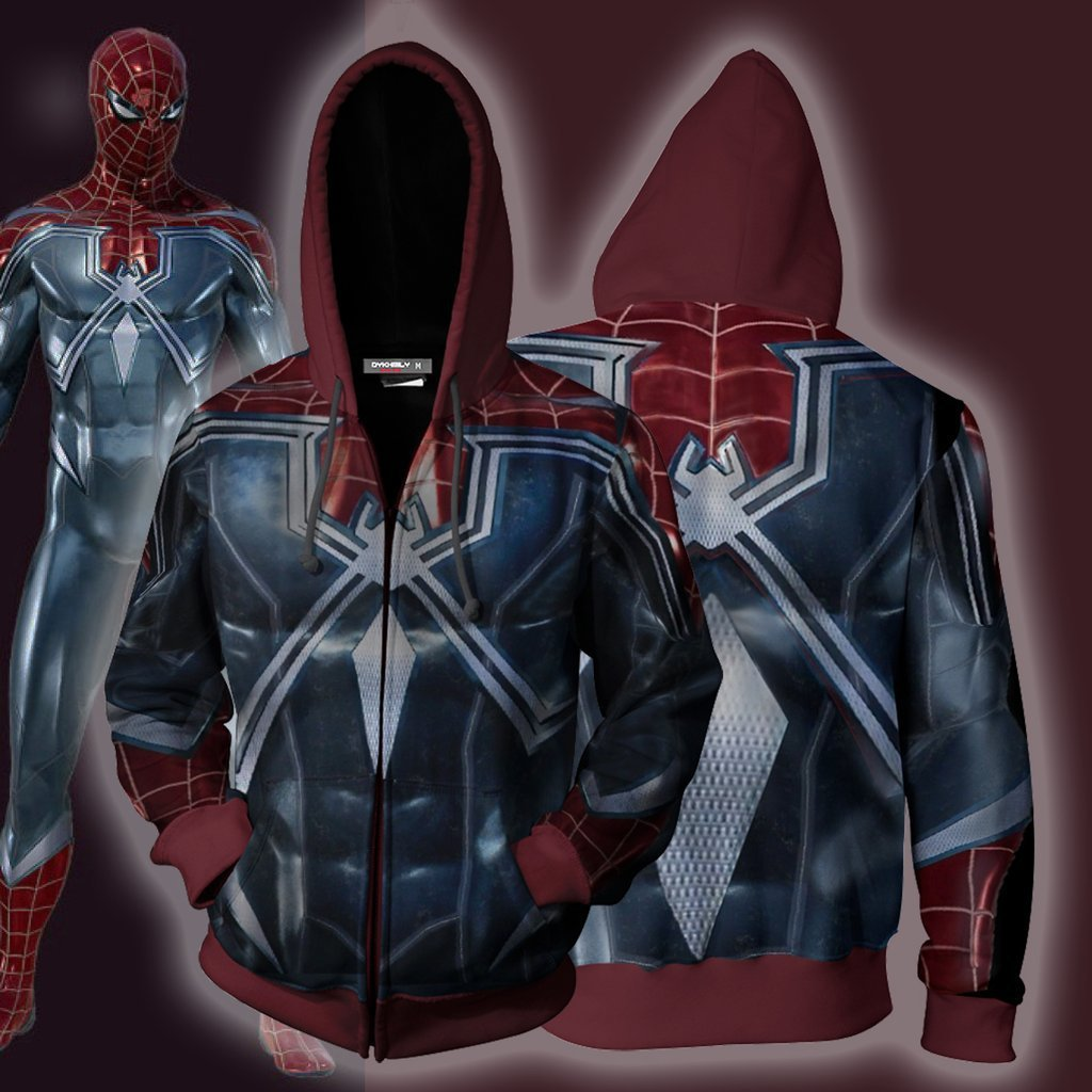 Dark Spider Man Zip Up Hoodie