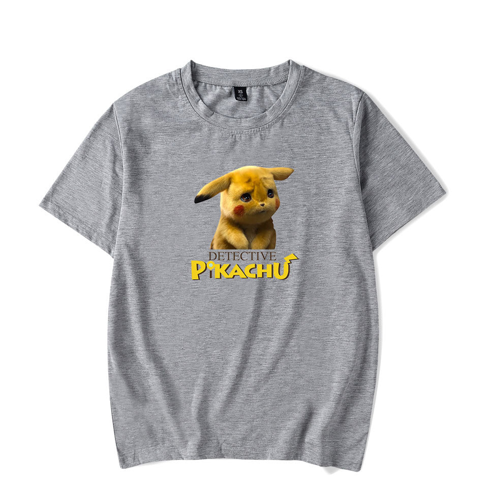 Detective Pikachu Cotton Short Sleeve T-Shirt