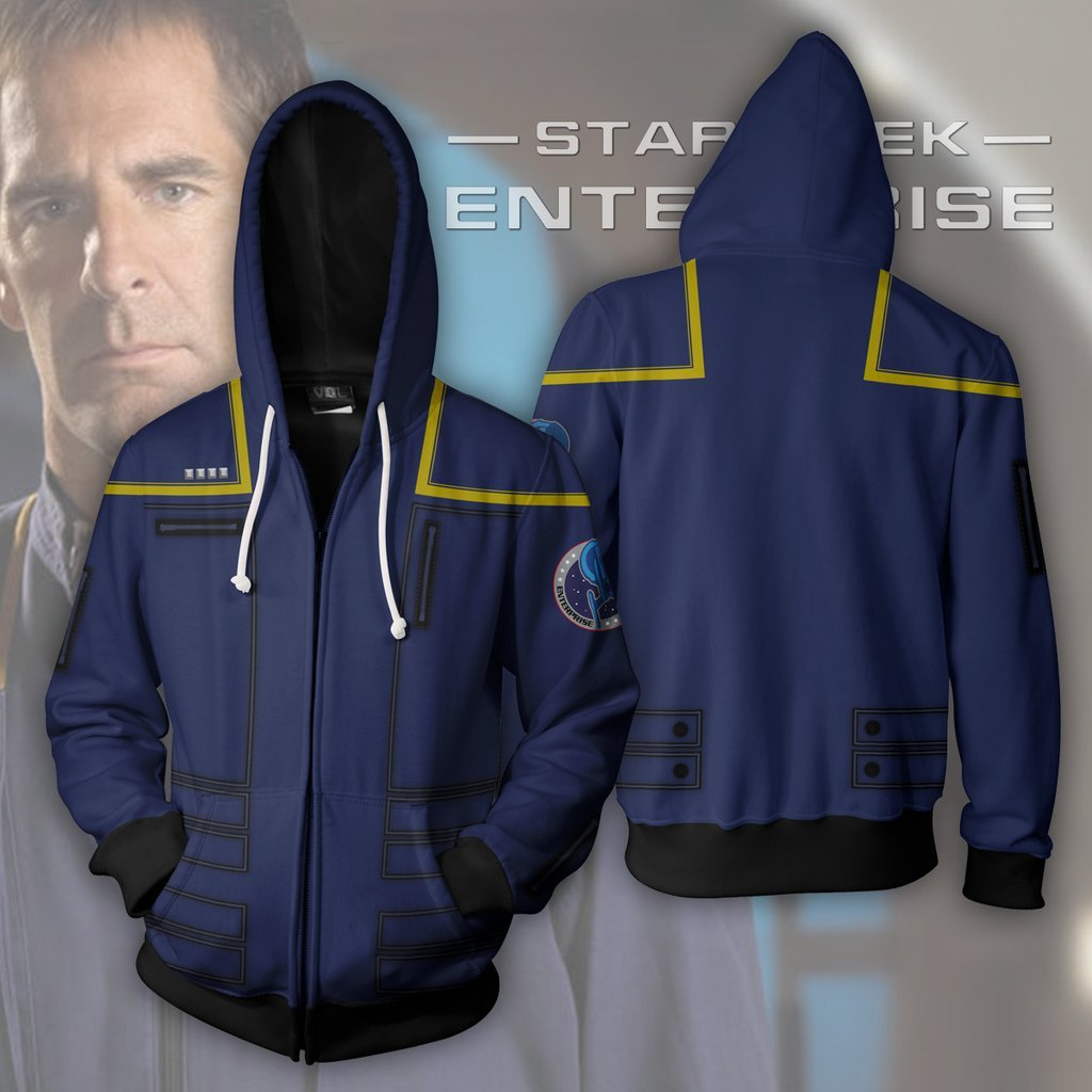 ST Series: Enterprise Zip Up Cosplay Hoodie