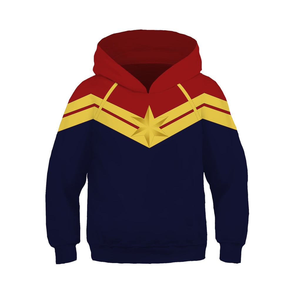 Marvel Captain 3D printed hoodie for lovely kids