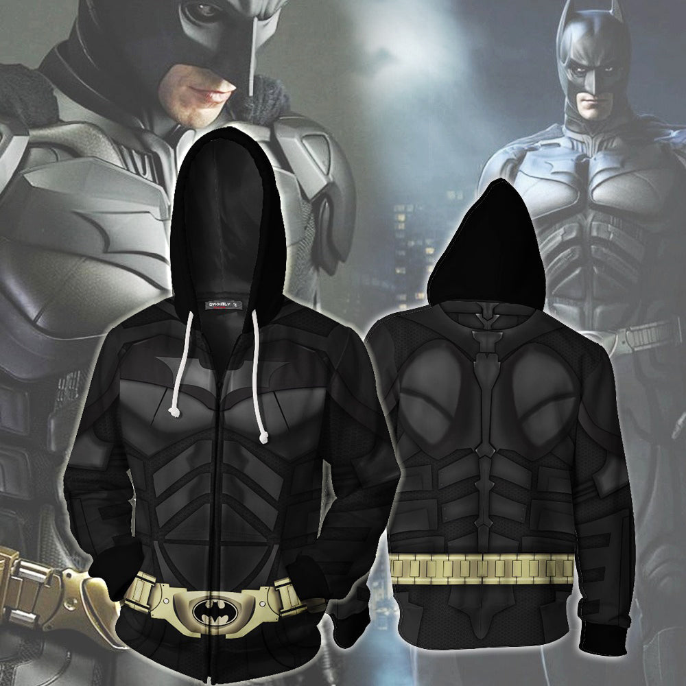New fashionable Batman 3D printed zipper hoodie