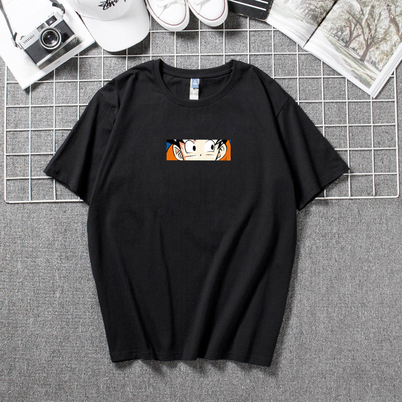 Dragon Ball Printed loose round neck short-sleeved T-shirt Couple Wear