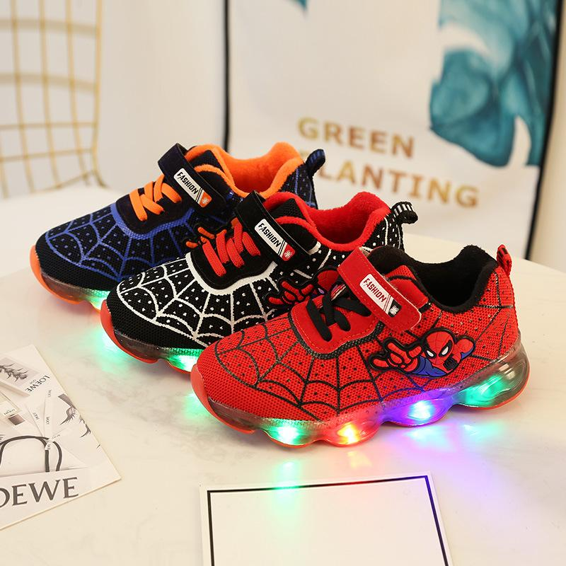 Spider-Man LED Illumination Breathable Sneakers for Kids