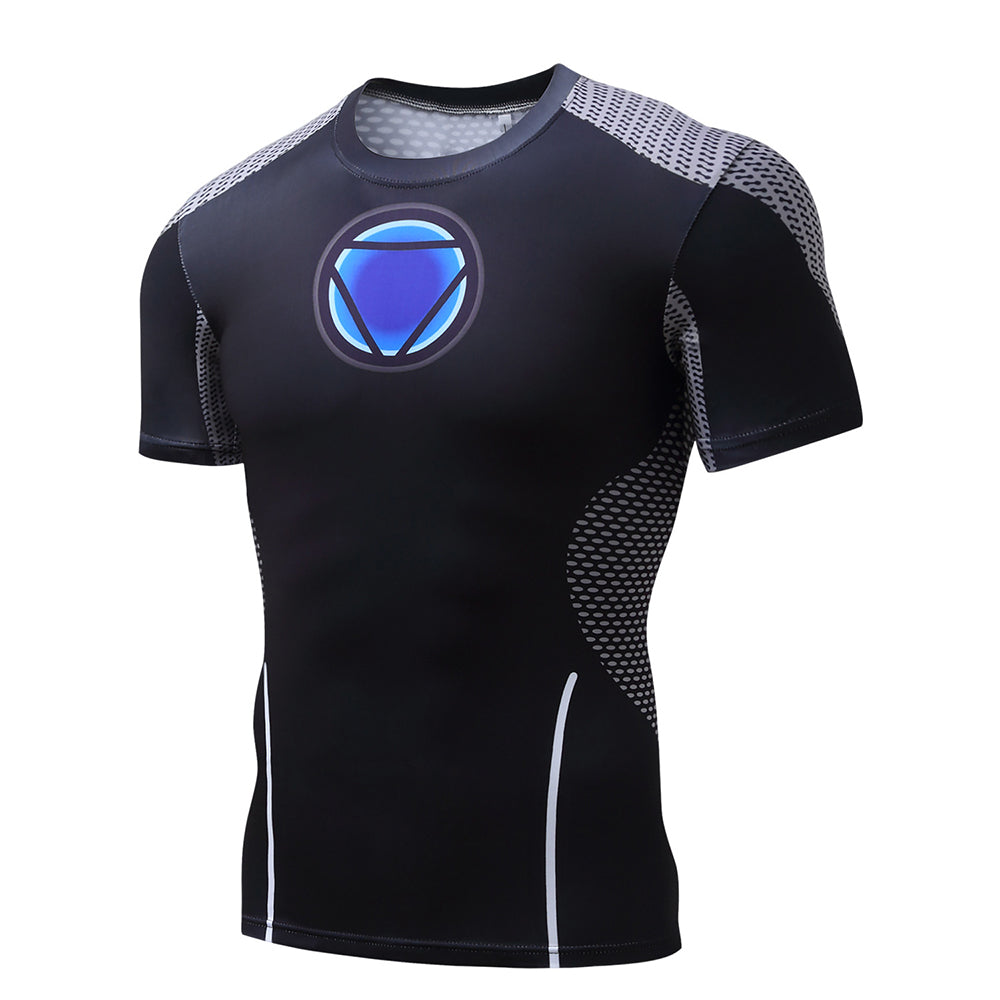 Men's 3D Printing Iron Man Sports T-Shirt