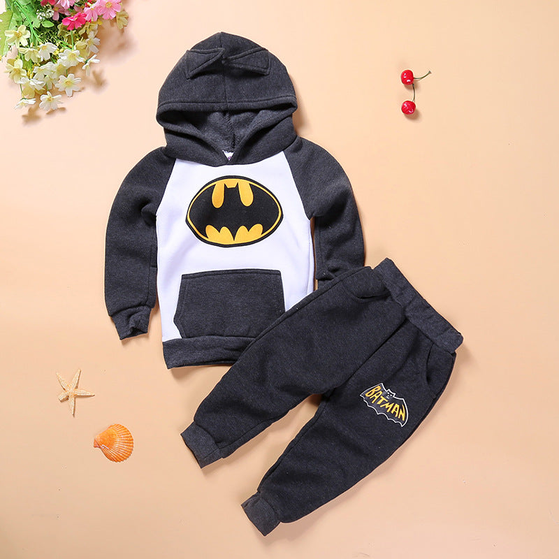 New children's Batman cartoon hooded sweater suit