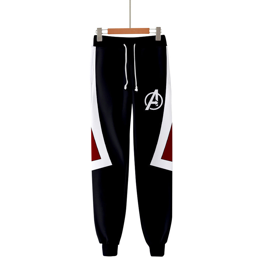 Avengers Endgame:Quantum 3D digital print black pants