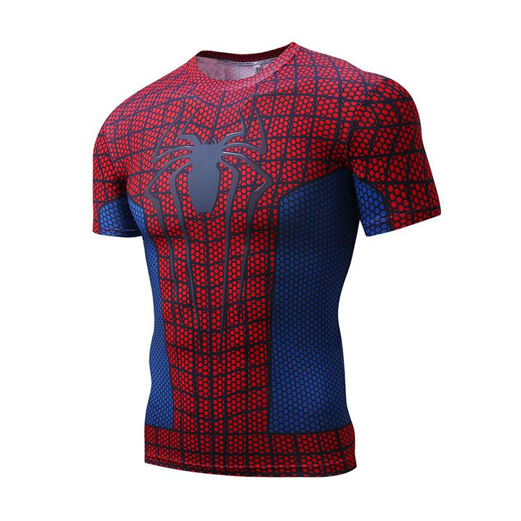 Spider-Man Sports Fitness Short Sleeve Lattice T-Shirt