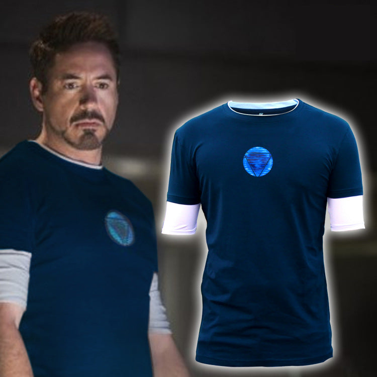 Iron Man3 Tony Stark Five-sleeve T-shirt