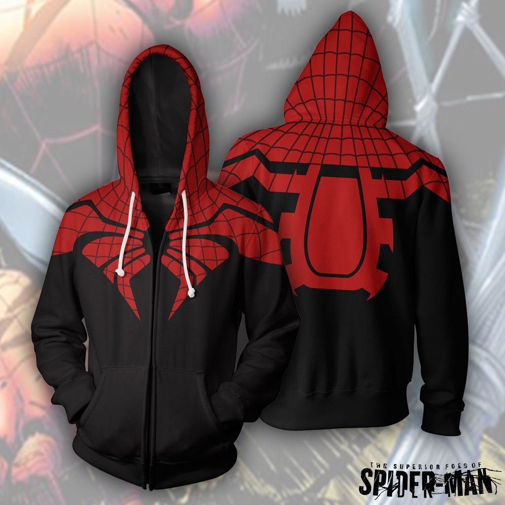 Trendy Spider Man Zip Up Hoodie