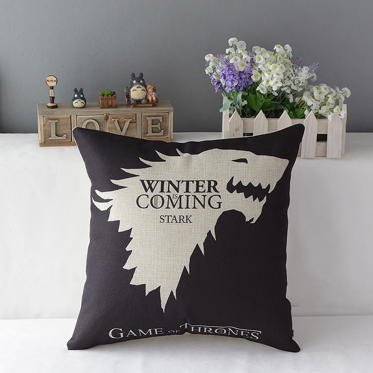 Game of Thrones House Stark Direwolf  Hold Pillow