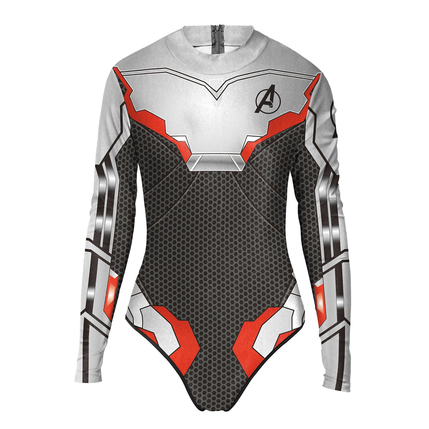 Avengers 4: Endgame Quantum Element Women's one-piece long-sleeved swimsuit