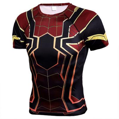 Red Spider-Man Sports Fitness Short Sleeve T-Shirt