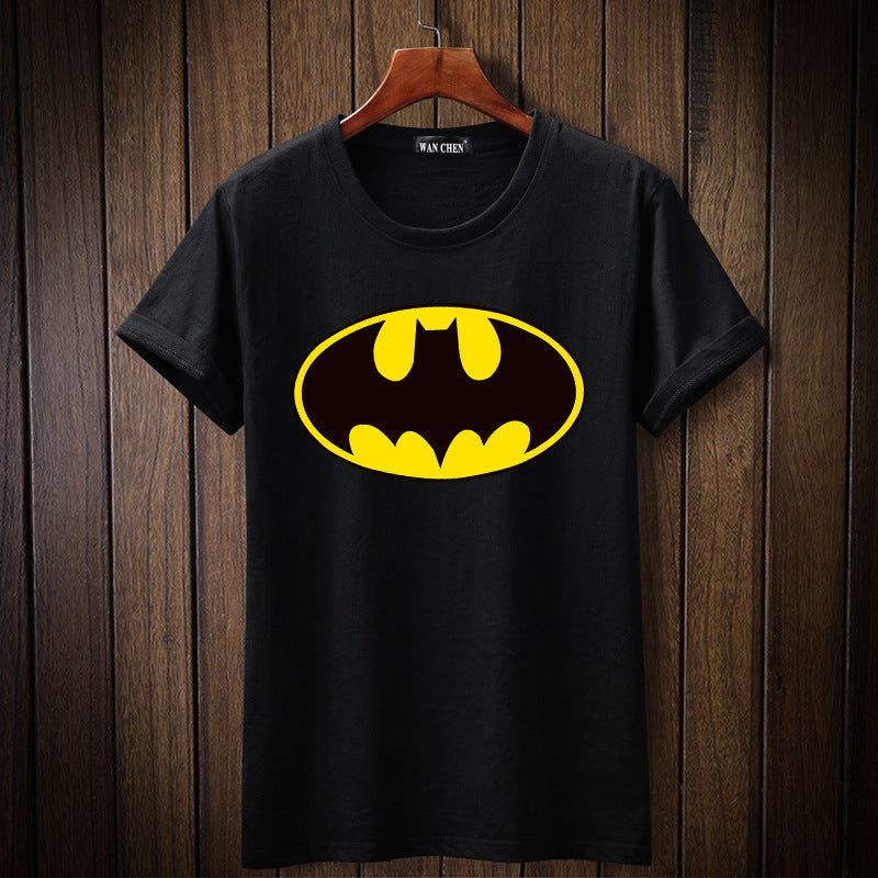 Spring and summer short sleeve youth loose Batman t-shirt