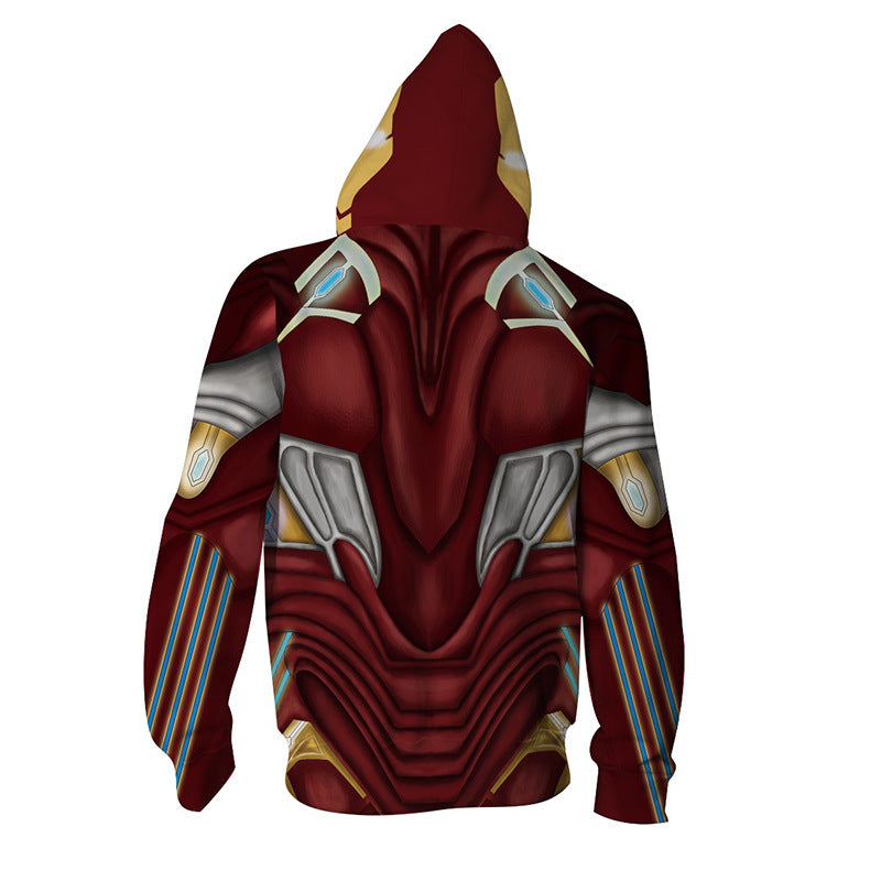 Anime Iron Man 3D Printed Long Sleeve Hoodies