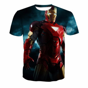 New Iron Man 3D Digital Printing Short Sleeve T-Shirt