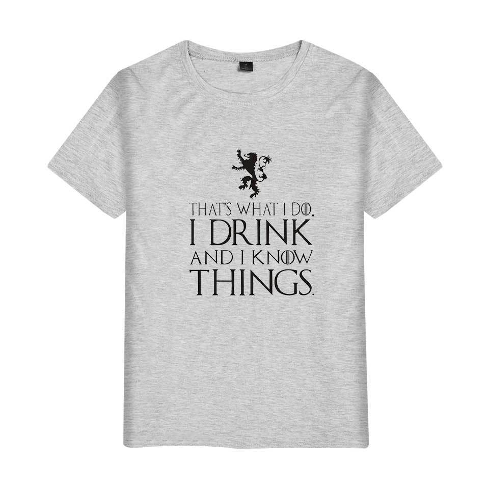 Game of Thrones I Drink and I Know Things Printed T-shirt