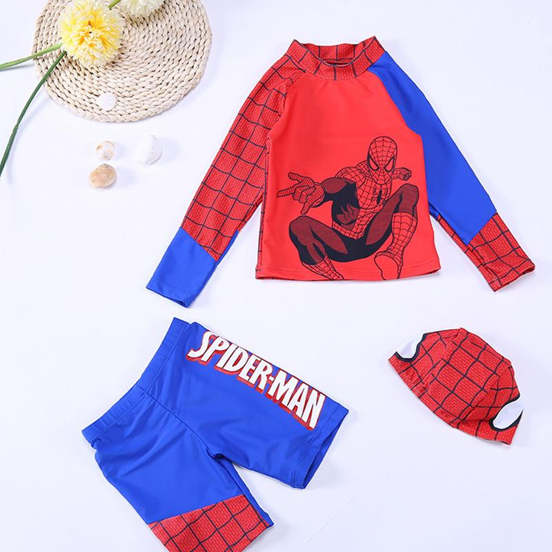 3-Piece Spider-Man Swimsuit For Kids