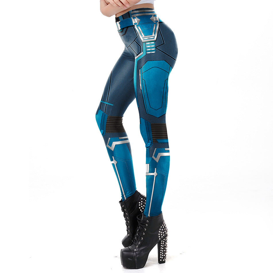 Marvel captain cosplay yoga pants