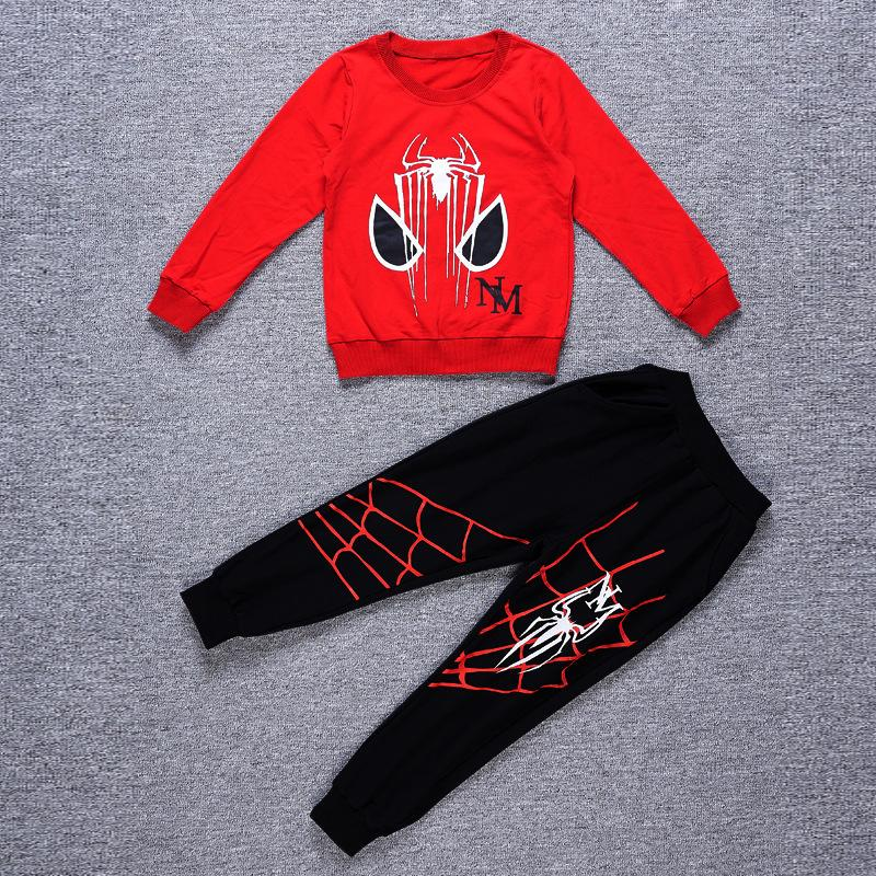Spider-Man Long Sleeve T-shirt and Pants Set for Kids