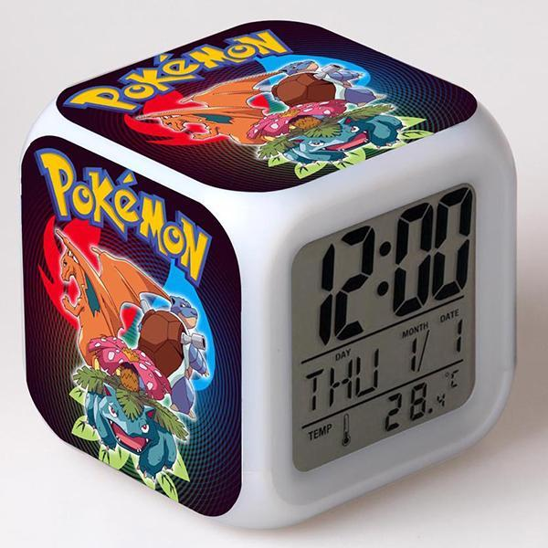Pokemon Pattern Print Alarm Clock