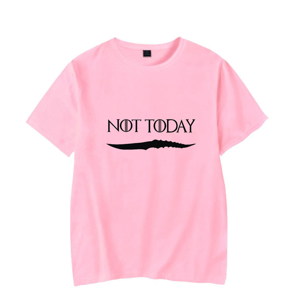 Game of Thrones Arya Stark-Not Today Letter short sleeve T shirts