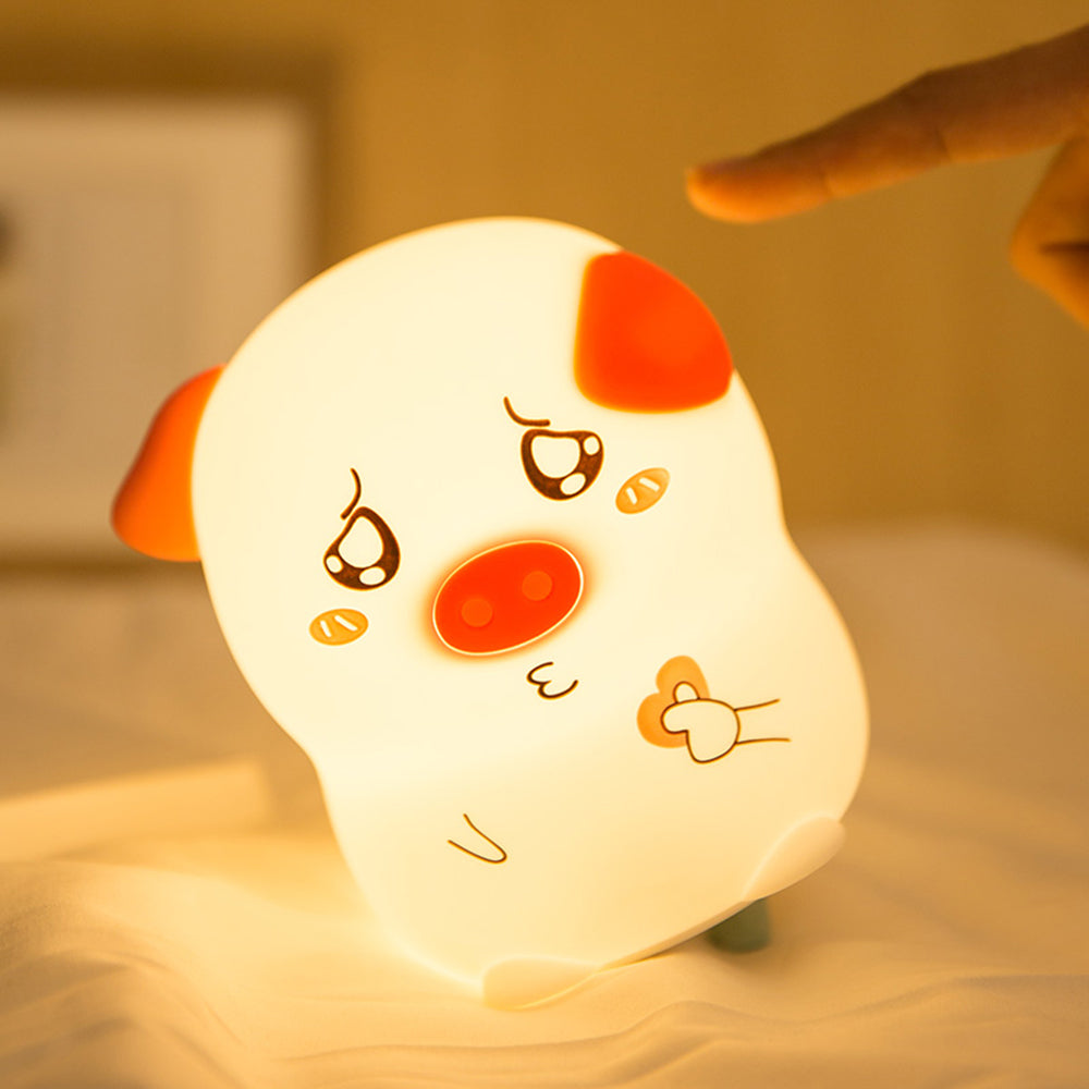 LED Silicone Colors Changing Pig Pet Sleep Lamp