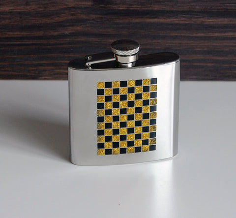Checkerboard Flask