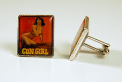 Con Girl Cuff Links