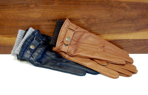 Lambskin Leather Merino Wool Gloves