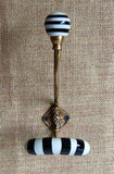 Striped Porcelain Hat Hook