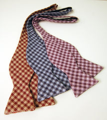 Herringbone Check Bowtie