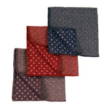 Reversible Houndstooth Polka Dot Pocket Squares