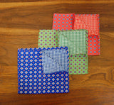 Medallions & Checks Reversible Pocket Squares