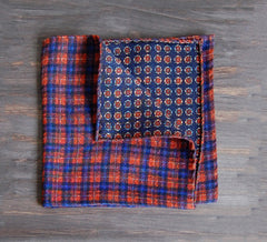 Orange Plaid & Medallion 2 in 1 Pochette