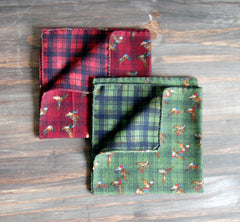 Flying Mallards & Plaid 2 in 1 Pochettes