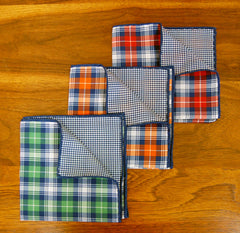 Reversible Plaid & Houndstooth Pocket Squares