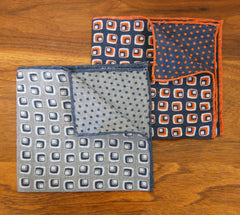 Reversible Squares & Dots Pocket Square